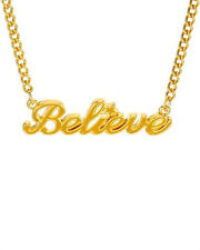 DISNEY COUTURE * Believe* Necklace in Yellow Enamel and Gold Plated  Base Metal