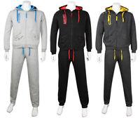 Men's Fine Casual Luxuary Fleece Full TrackSuit Jogging Top Bottom Hoodie Suit