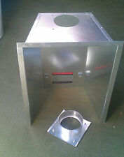 Gas flue liner single skin tapered collector box for standard opening E