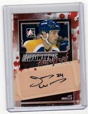 JAY WELLS 11/12 ITG Enforcers Auto Autograph A-JW Signed Signature Hockey Card