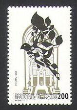 France 1988 Dove/Synagogue/Religion/Animation/Birds/Buildings 1v (n34714)