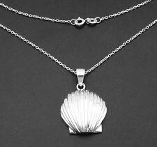 Nautical Sea Shell Charm Pendant Chain Sterling Silver