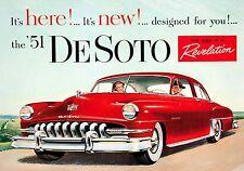 MAGNET Automobile Advertisement Photo Magnet DE SOTO 1951