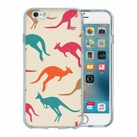 For Apple iPhone 6 6S Silicone Case Australia Kangaroo Pattern - S5966