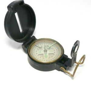 Vintage Engineer Directional Lensatic Compass Surveyor Made In Japan