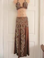 FINE SEXY LUXURY Elegant Professional Belly Dance Costume Handmade 2 Pieces Set