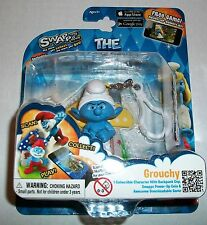 The Smurfs Swaps GROUCHY Figure Clip-For iOS & Android Smurf World Game App! NEW
