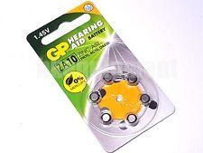 GP 10 AC10 ZA10 DA230 PR70 Zinc Air Hearing Aid battery x6
