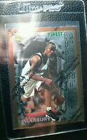 1996 TOPPS FINEST W/C #62 STEPHON MARBURY ROOKIE CARD RC MINT TIMBERWOLVES