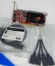 VisionTek AMD 7750 1GB Multiple 5X Monitors 4x Quad HDMI mDp Windows 10 Video
