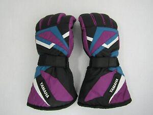 Yamaha Vintage Thermolite Snowmobile Gloves Mens LARGE Aqua-Tex Leather Retro