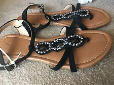 Target Jewelled Black Sandals Krista Size 9