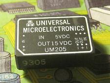UM205 1.5 Watt DC-DC 5VDC - 15VDC Converters  Universal Microelectronics1pcs