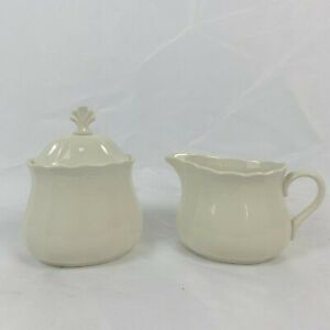 3 PIECE LOT OF LENOX CASUAL ELEGANCE CREAMER & SUGAR WITH A LID FREE SHIPPING