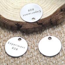 10pcs expriment 626 charm silver tone message charm pendant 20mm