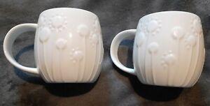 Two Repeat Repeat Plum Bone China Mugs