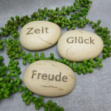 Formano Deko Steine Stein Garten Kunststein Freude Glück Zeit Gartendeko