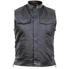 Tan/Tarn/chaleco textil en negro de seguridad West moto motorista rocker ocio