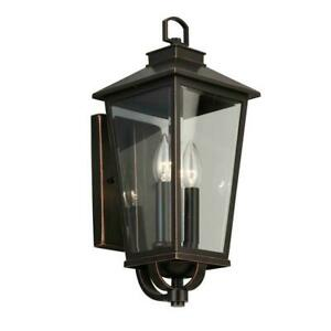 Home Decorators Williamsburg Gas Style 2-Light Outdoor Coach Light Sconce