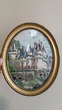 Cadre Medaillon Style LOUIS XVI avec Verre, Ancien Vintage Art Deco French Frame