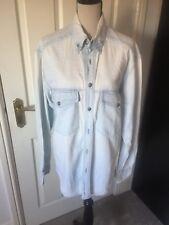 Versace Pale Blue Denim Shirt Size Large