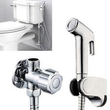 Toilet Handheld Stainless Steel Bidet Spray Shower Sprayer Douche kit Attachment
