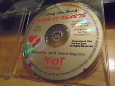 RARE PROMO Greg Kihn Band CD Kihn Of Hearts sampler 1992 Spitballs HOT TUNA rock