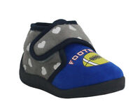 Kids Boys Toddler comfy cosy Slippers Football Touch Fastening Shoe size EU22-26