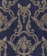 Grovesnor Blue Floral Cameo Damask Feature 3d Effect Wallpaper Debona 6216