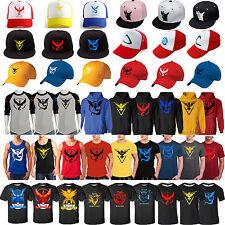 Pokemon GO Team Valor Mystic Instinct Fan Inspired Tee Shirt/Baseball Cap Gifts