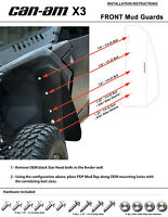Can-Am Maverick X3 FRONT Mud Guard Fender Flares By Proven Design Products _ ONG