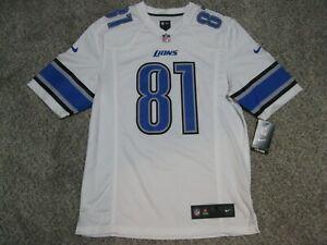 Calvin Johnson MEGATRON Detroit Lions Mens Small White Nike Game Jersey