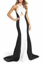 NEW LA FEMME Neoprene Colorblock Mermaid DRESS GOWN SIZE 4 $398  NORDSTROM