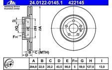 ATE Juego de 2 discos freno Antes 284mm ventilado para OPEL COMBO FIAT