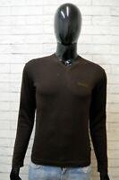 Maglione Uomo Woolrich Taglia S Pullover Cardigan Felpa Lana Sweater Marrone Man