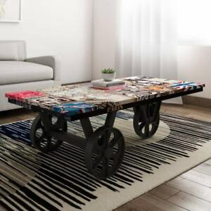 Indian Handmade French Style Cardiff Center Table Coffee Table (Black)