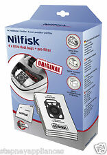 Nilfisk Vac Bags 107407940 - 4 Bags + Pre Filter - Elite/Supreme/King -