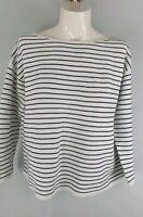 Uniqlo Stripe Cotton Blend Blouse Sz M