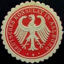 German consulate in Aalborg, Denmark seal stamp -H- Germany/ambassador/embassy