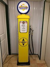 7' BLUE SUNOCO RETRO GAS PUMP REPRODUCTION REPLICA - MADE IN USA - CUSTOMIZABLE