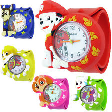 Kids Boys Girls Childrens PAW PATROL Snap On Slap Watch Quartz Analogue Watches