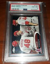 2012 TOPPS CHROME MIKE TROUT #144 PSA 8 NM-MT