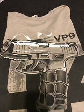 HECKLER KOCH HK Logo HK VP9 VP40 Pistol Graphic Print Gray T-shirt Size 2XL