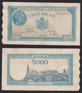 Romania 5000 lei 1945 BB/VF  C-05