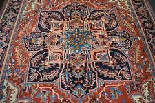 nr 2155 Handgeknüpfter ORIGINAL Teppich ORIENTAL HERIZ ANTIK ca 355 x 254 cm