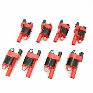 8 Pcs Round High Voltage Ignition Coils For GM LS2 LS3 LS4 4.8L 5.3L 6.0L 6.2L