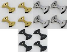 J&L Titanium/Ti Pedal Plate/Bow tie* 4pc fit SpeedPlay Zero&Light Action-4 color