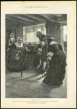 """1888 - Antique Print FINE ART """"For Faith and Freedom"""" Walter Besant  (112)"""