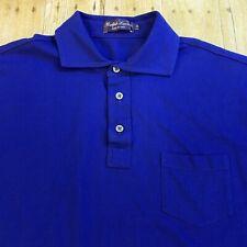 Ralph Lauren Purple Label Mens Navy Blue Pocket Polo Golf Shirt XL
