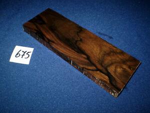 Ziricote Schmuckholz  feine Holzarbeiten     160 x 55 x 12 mm     Nr. 675